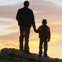 O pai e o filho na montanha