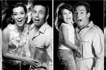 Tente não chorar: após morte da esposa, pai e filha recriam as fotos do casal