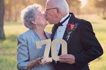 Casal comemora 70 anos de casamento e ganham sonhado ensaio fotográfico que nunca tiveram