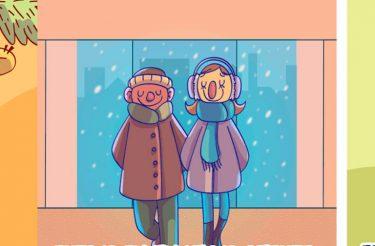 Quadrinhos mostram as pequenas satisfações humanas :)