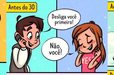 Quadrinhos revelam a diferença do AMOR antes e depois dos 30!