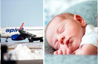 Final feliz: bebê nasce no meio de um vôo e a reação da companhia área vai te surpreender :)