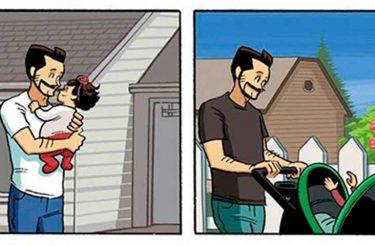Ilustrador cria história em quadrinhos para te lembrar O POR QUE você deve passar o maior tempo possível com seus filhos