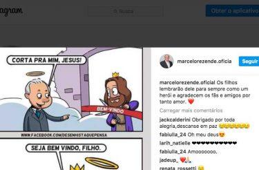 Última postagem do perfil oficial de Marcelo Rezende no Instagram emociona fãs