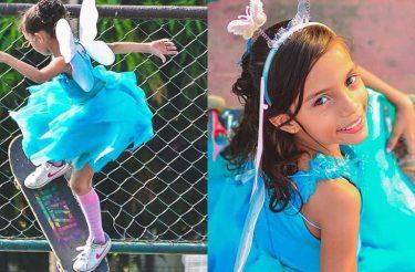 Esta garotinha BRASILEIRA se tornou um viral no mundo após fazer várias manobras inacreditáveis em seu skate, fantasiada de fadinha!
