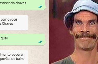 Esta discussão de Whatsapp deveria ser lida por todas as pessoas que falam mal de Chaves