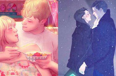 Ilustrações captam com perfeição como é estar apaixonado