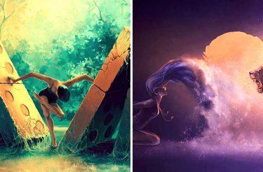 Serie de ilustrações poderosas representa as características de cada signo com a dança