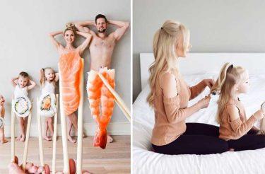 Esta mãe viralizou com as fotos de família mais cômicas e criativas do mundo!