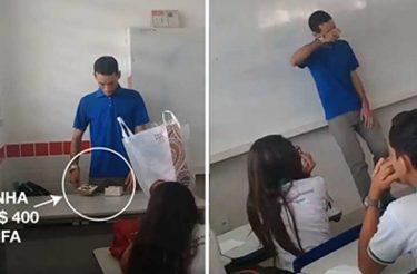 Alunos fazem rifa para ajudar professor que está há dois meses sem receber [vídeo]