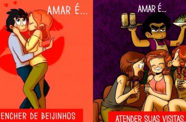 Serie de ilustrações mostra o que é o amor na vida real e viraliza