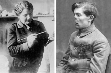 """Antes e depois de fotos mostram como essa mulher mudou a vida de veteranos da Primeira Guerra Mundial """"restaurando"""" seus rostos"""