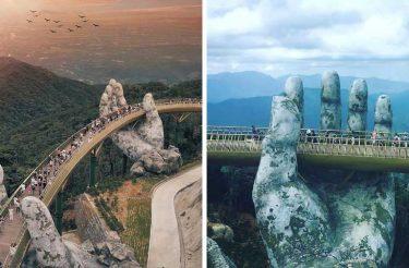 Vietnã inaugura Ponte de tirar o fôlego que parece ter saído do Senhor dos Anéis
